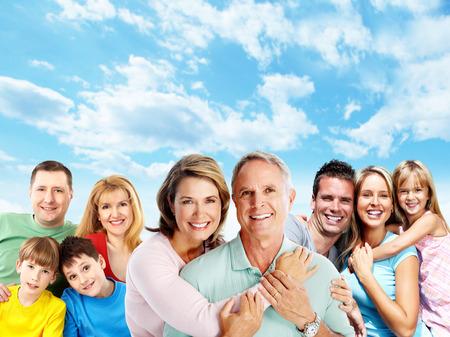 persone relax: Famiglia felice.