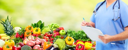 public health: Diet and health care. Stock Photo