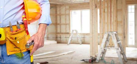 Manitas constructor con herramientas de construcción.
