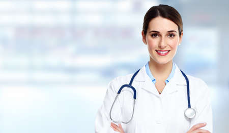 clinic: Medical doctor woman.