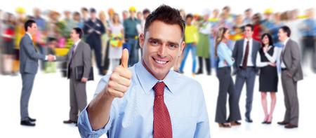 gl�ckliche menschen: Happy Business-Leute-Gruppe. Lizenzfreie Bilder