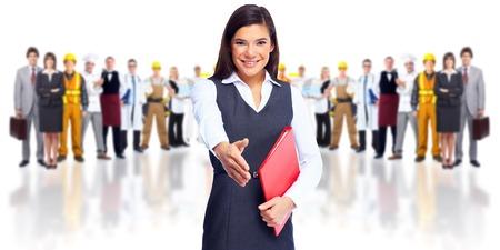 hand shake: Equipo de negocios. Foto de archivo
