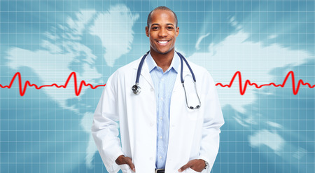 African american medical doctor man. photo