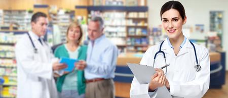 Mujer farmacéutico Médico.