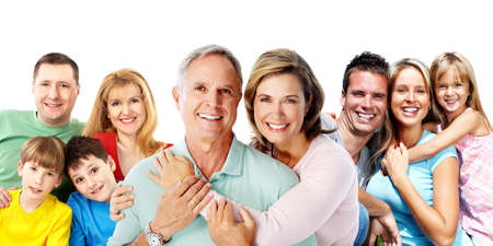 enfants heureux: Famille heureuse.