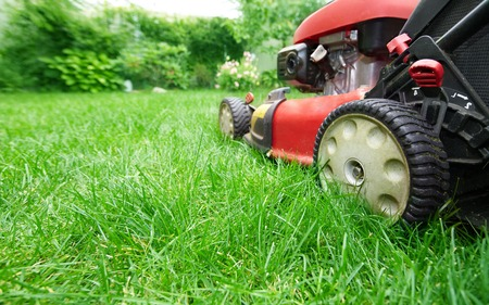 mower: Lawn mower. Stock Photo