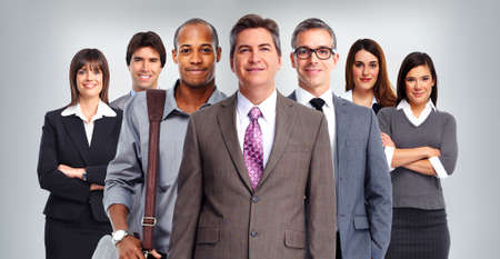 gente exitosa: Grupo de gente de negocios. Finanzas y concepto contable. Foto de archivo