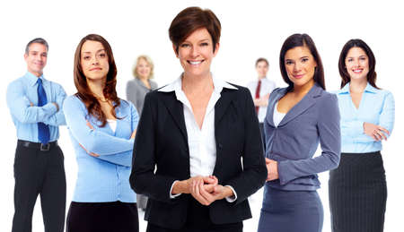 success in business: Group of business people. Teamwork and success background.
