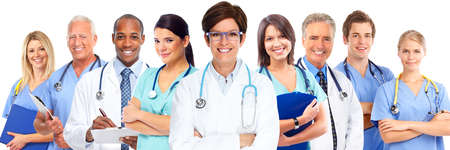health professionals: Group of medical doctors. Health care concept background.