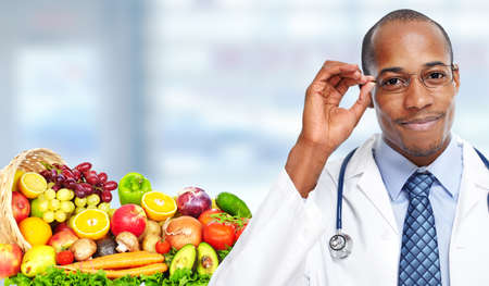 africanamerican: African-american doctor man. Health care medical background.