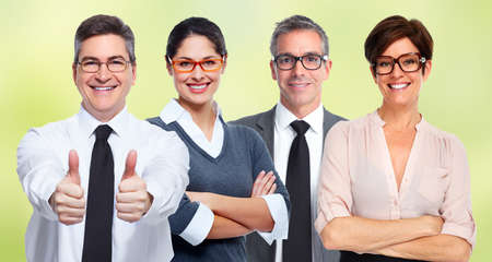 shortsightedness: Group of business people wearing eyeglasses. Eye health care.