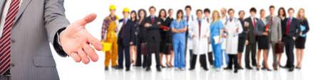 werk: Mensen uit het bedrijfsleven handdruk Stockfoto