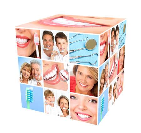 smile close up: Teeth whitening  Stock Photo