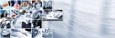 business man laptop: La gente de negocios collage de equipo