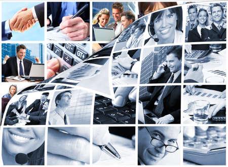 회사: 비즈니스 사람들이 팀 콜라주 스톡 사진