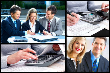 community service: Business people collage  Stock Photo