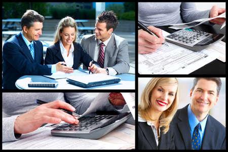expert comptable: Les gens d'affaires collage Banque d'images