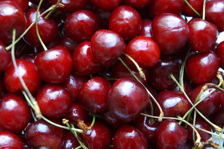 bacca: sweet cherries Stock Photo