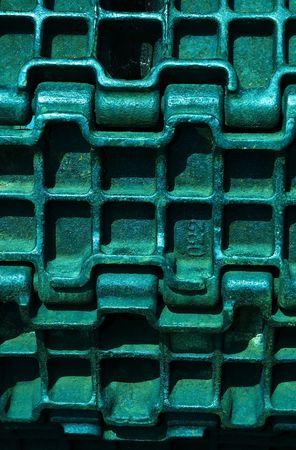 impregnable: abstract metallic background Stock Photo