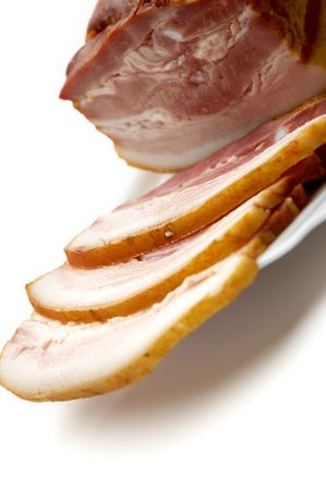 juicy bacon Stock Photo