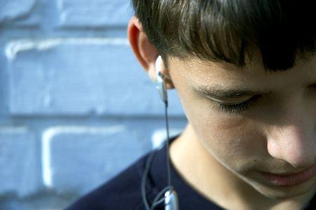 favourite: teen listen the favourite song
