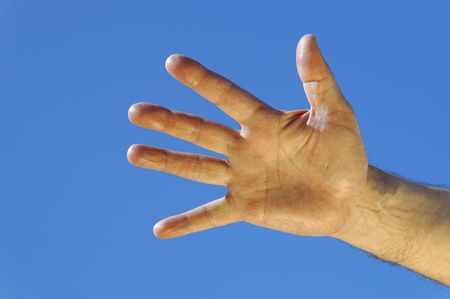 swindler: hand of the man Stock Photo