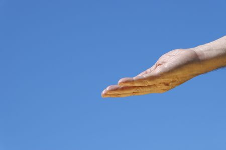 hand of god Stock Photo