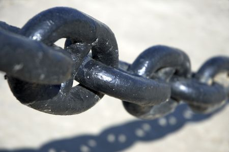 servitude: chain in close up Stock Photo