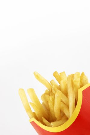 calorie rich food: french fries Stock Photo