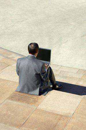 moneymaker: working outside Stock Photo
