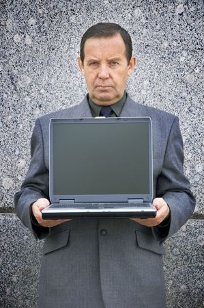 money-maker with laptop photo