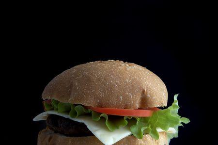 alight: hamburger