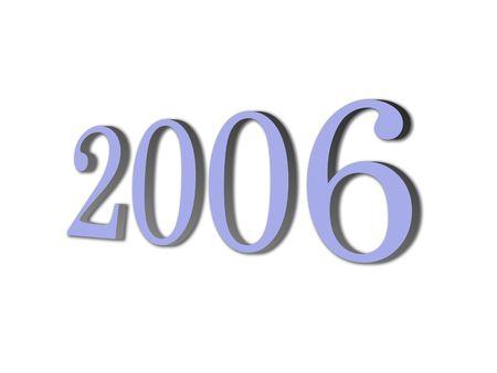 ex: brand new year 2006 Stock Photo