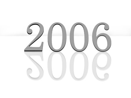 chronologie: marque la nouvelle ann�e 2006 avec la r�flexion  Banque d'images