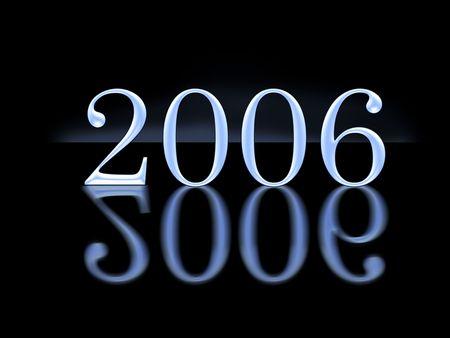 chronology: nuevo a�o 2006 con la reflexi�n  Foto de archivo
