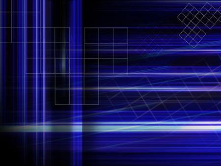 alight: blue hi-tech background Stock Photo
