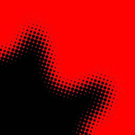 ornamentations: red and black background