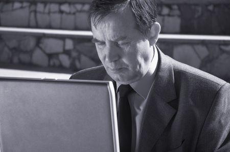moneymaker: work on the laptop Stock Photo