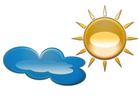 nebulosity: sun and cloud