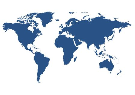 south west: world map