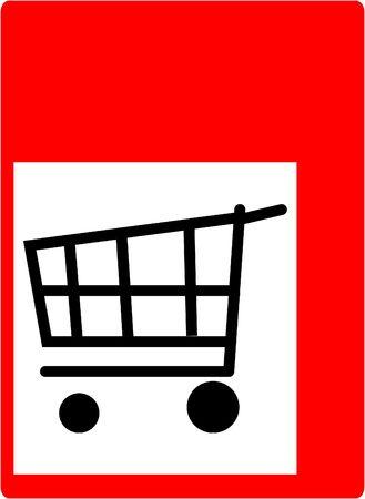 handcart: shopping handcart
