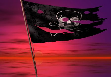 plundering: dood vlag Stockfoto