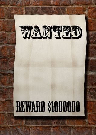 Wanted! Stock Photo
