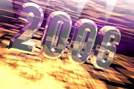 chronology: nuevo a�o 2006 Foto de archivo