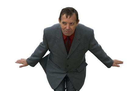 isolated funny businessman photo