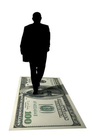 moneymaker: moneymaker silhouette Stock Photo