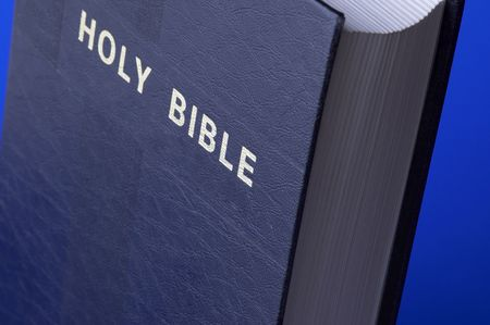 homily: Holy Bible in close up