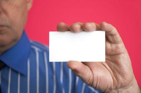 moneymaker: empty blank in hand