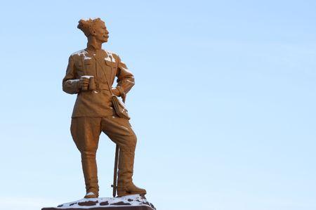 cavalryman: monumento de h�roe ruso Chapaev