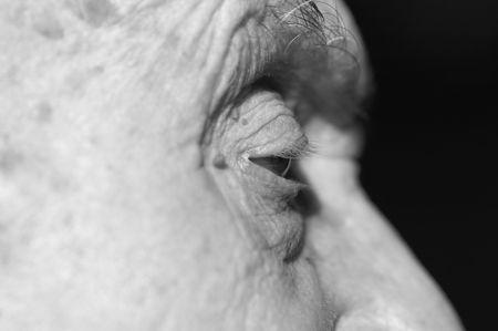 senile: old man